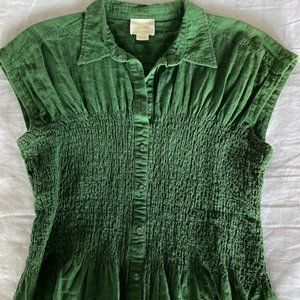 Maeve by Anthropologie Bellamy Smocked Top